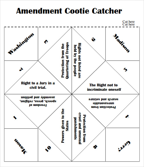 picture relating to Cootie Catcher Printable named Free of charge 9+ Cootie Catcher Templates within just PDF PPT PSD