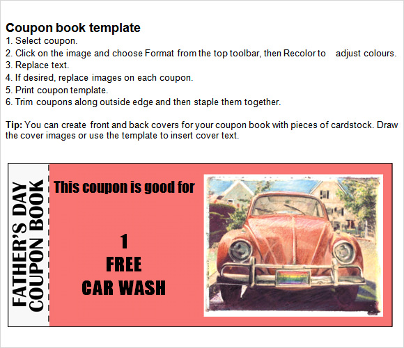 7 useful coupon books sample templates for Romantic coupon book template
