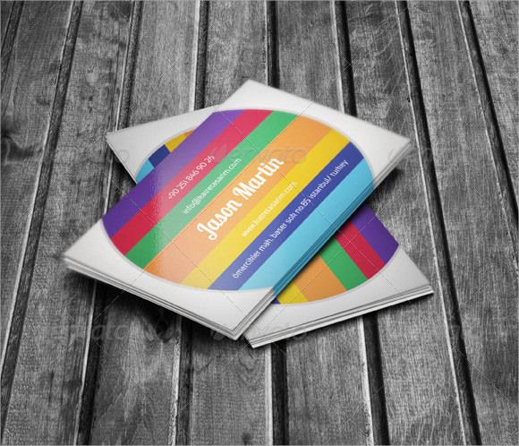 creative blank business card template