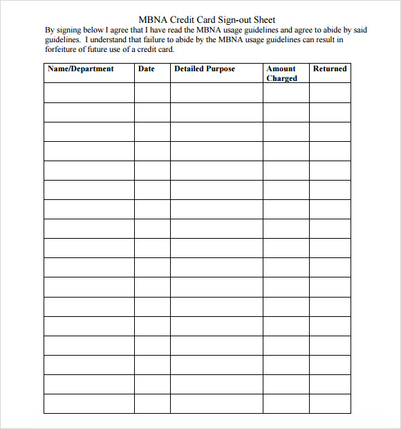 Captivating Sign Out Sheet Template U2013 9+ Download Free Documents In Word , PDF U2026