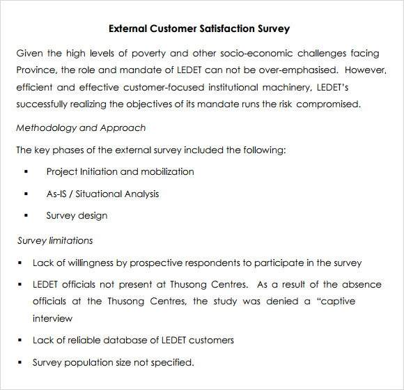 Customer Satisfaction Survey - 7+ Download Free Documents in PDF, Word