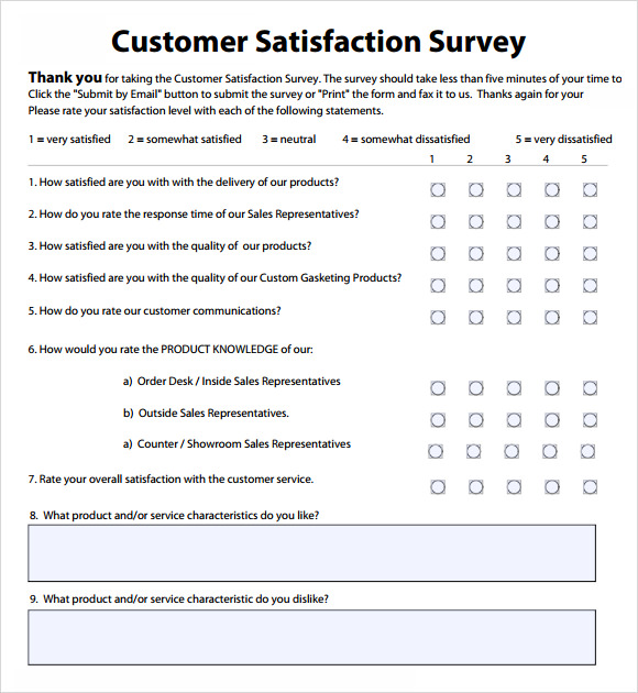 Sample Customer Survey. Sample Survey Template Sample-Customer