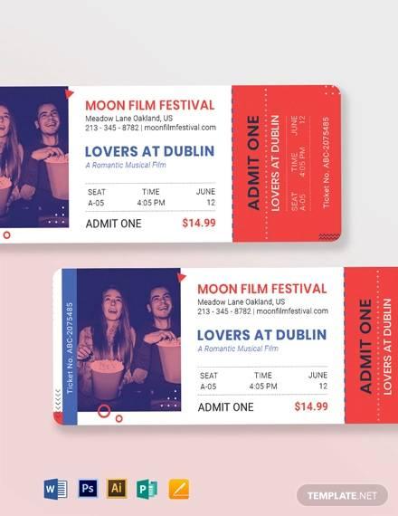 date night movie ticket template