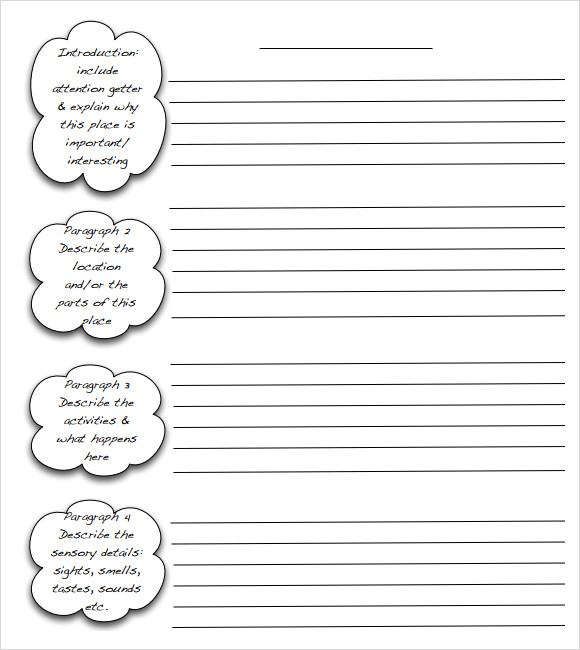 Essay writing outline template