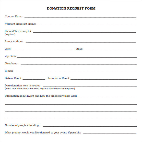 Doc12751650 Donation Form Template 6 Free Donation Form – Generic Donation Form