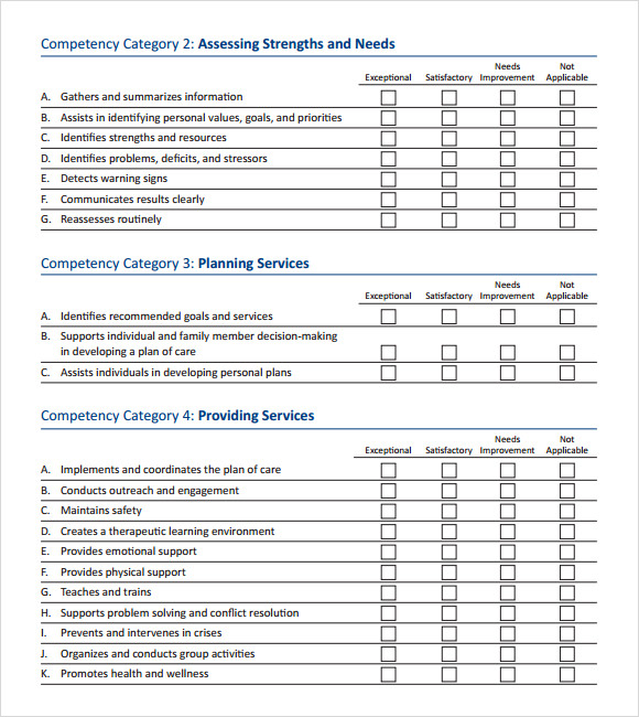 Skills assessment 8 download free documents in pdf for Sales skills assessment template