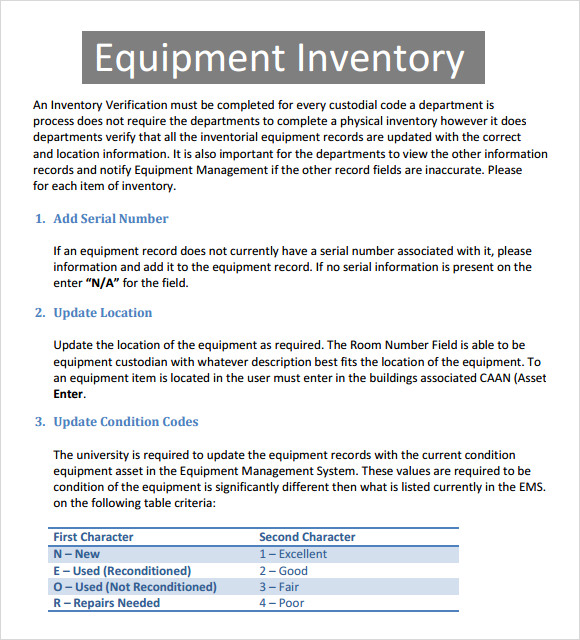 excel equipment inventory templates .