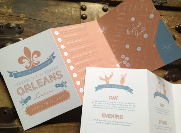 event itinerary design