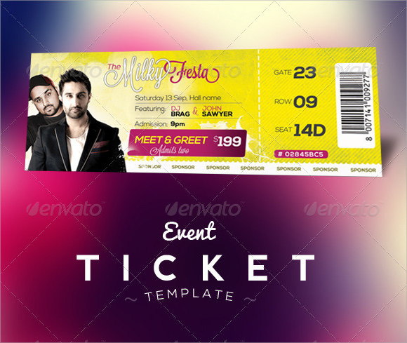 event ticket template photoshop