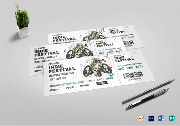 festival concert ticket template