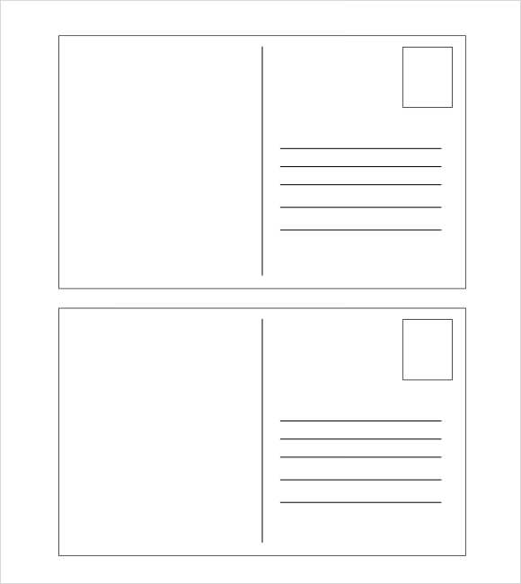 Blank printable postcard template bing images for Back of postcard template photoshop