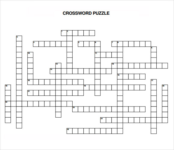 Sample Blank Crossword Template 9 Documents Download In Pdf
