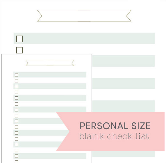 Blank Checklist Template - 9+ Download Free Document in PDF , PSD ...