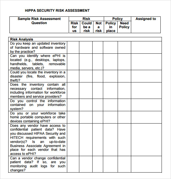 risk assessment security survey template - security risk assessment 8 free download for pdf word