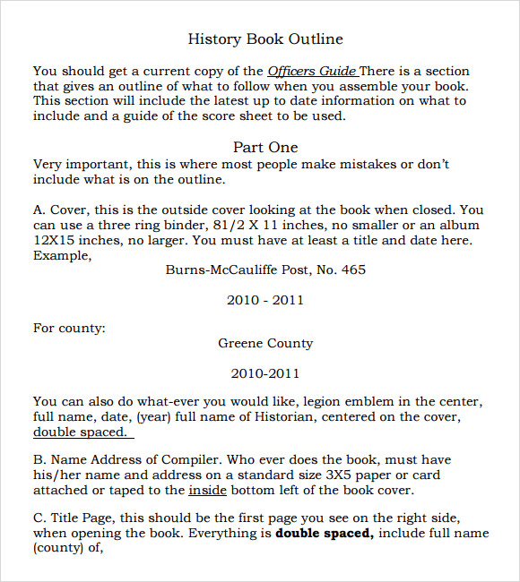 Book Outline Template - 9+ Download Free Documents in PDF , Word