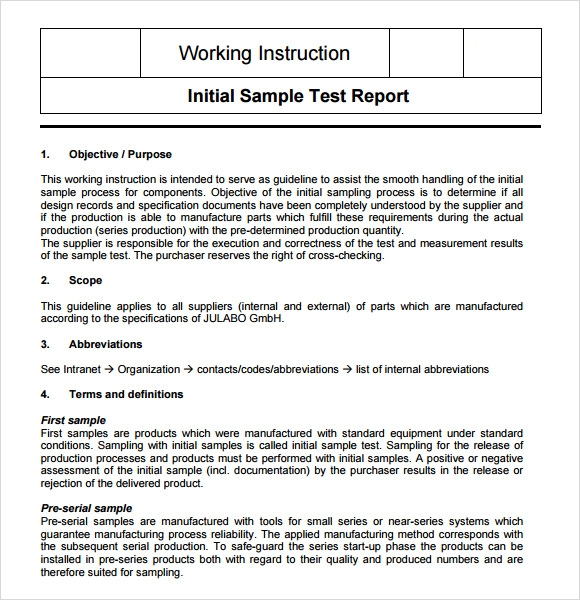 8 sample instructions sample templates for Instruction sheet template word