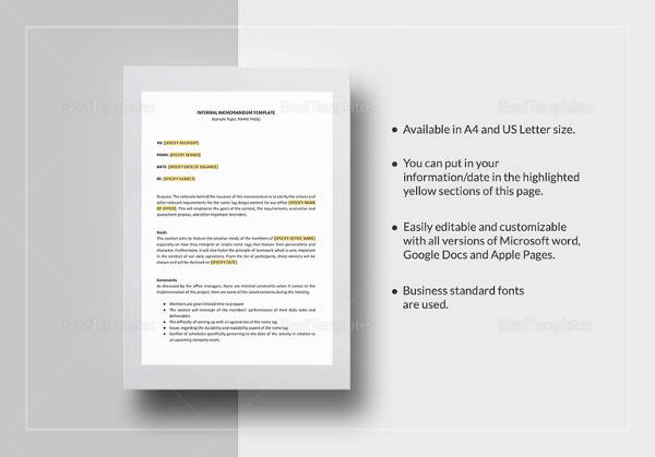 Internal Memo Template Download In Google Docs
