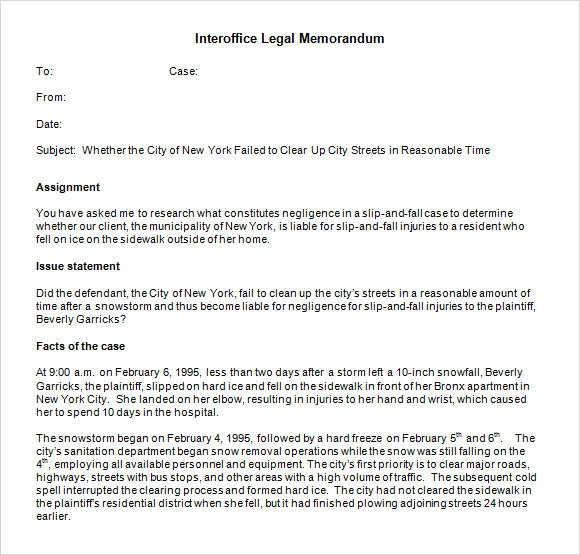 Legal Memo Format | Interoffice Memo Templates 5 Download Free Documents In Pdf Word