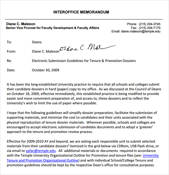 Interoffice Memo Templates   Download Free Documents In Pdf  Word