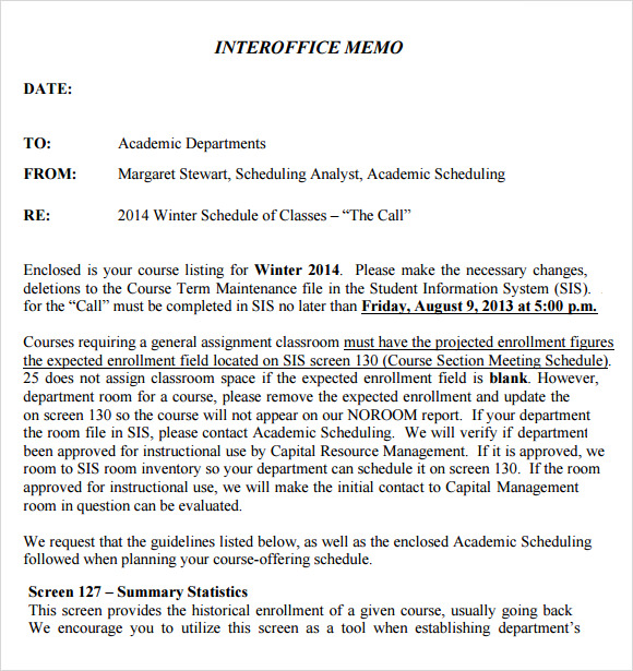 word 2013 interoffice memo