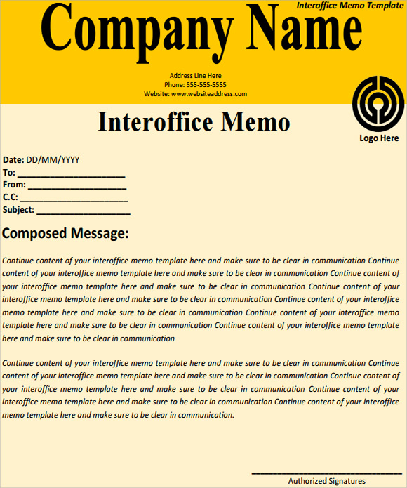 Interoffice Memo Templates 5 Download Free Documents in PDF Word – Sample of Interoffice Memo