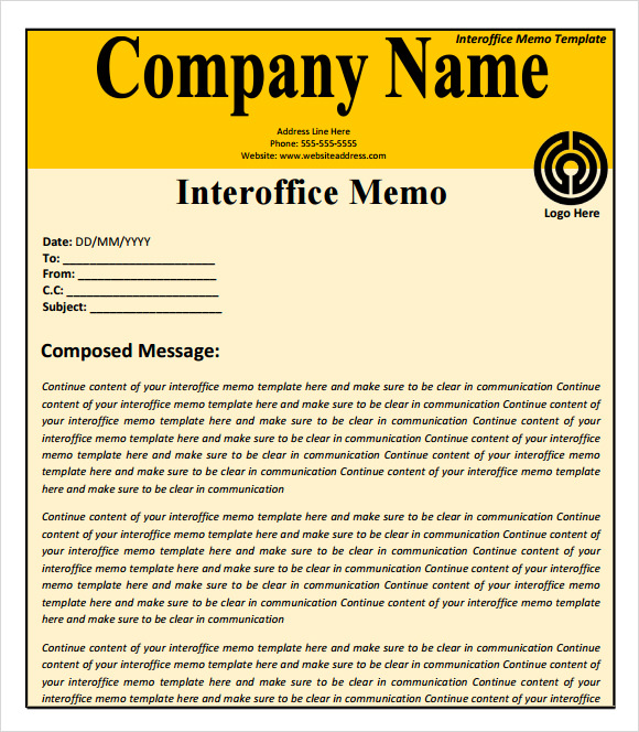 Confidential Memo Template - 8+ Download Free Documents in PDF , Word ...