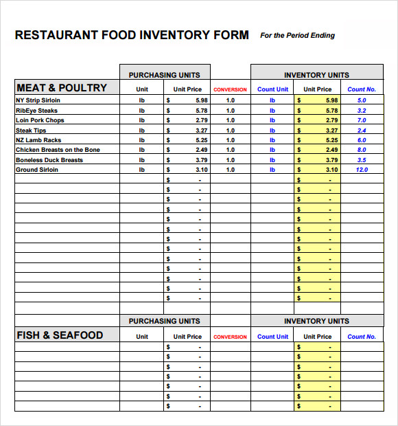 FREE 8+ Food Inventory Samples in PDF | Excel