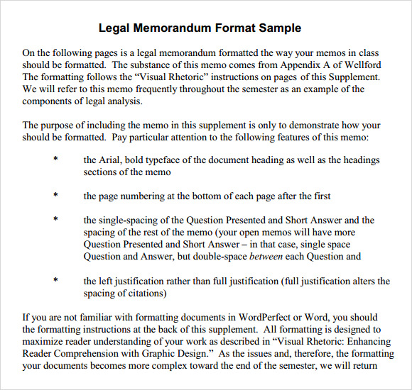 legal memorandum format