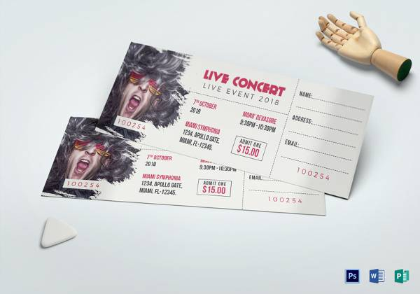 live concert ticket template2