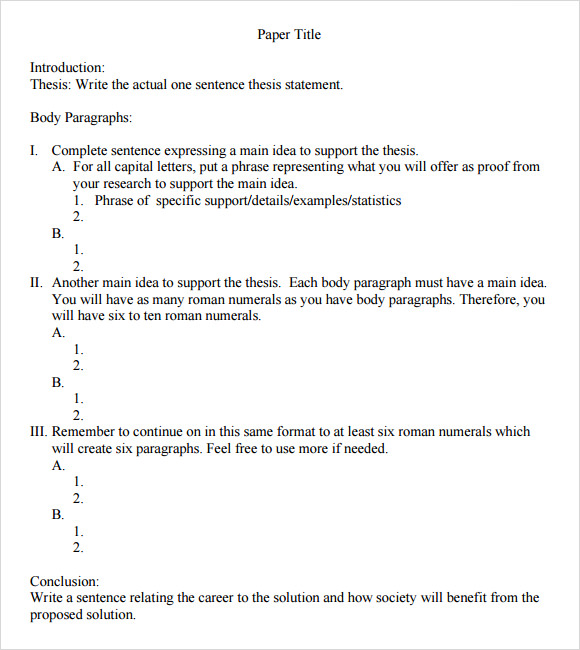 MLA Formal Outline Template