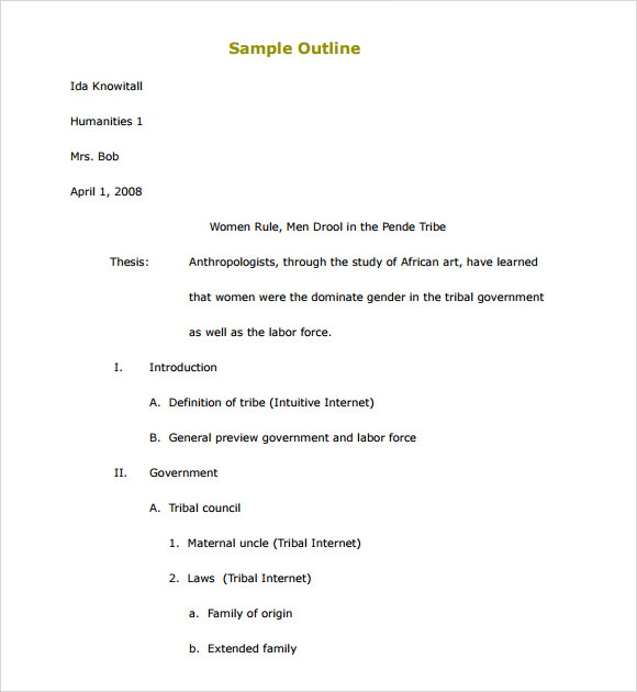 Research Paper Outline Template Turabian Style Footnote Homework  Carpinteria Rural Friedrich