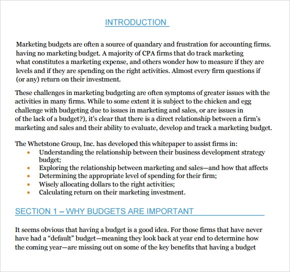 Marketing Budget Template - 6+ Download Free Documents In Pdf, Excel