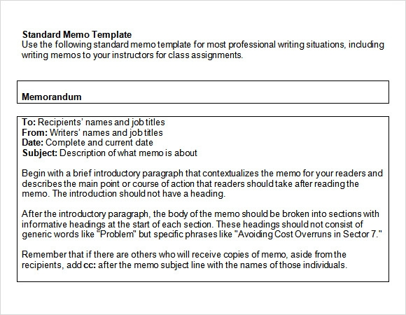 free microsoft word memo template – Word Document Memo Template