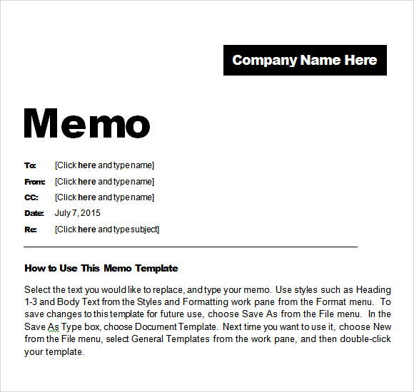 how to create memo templates