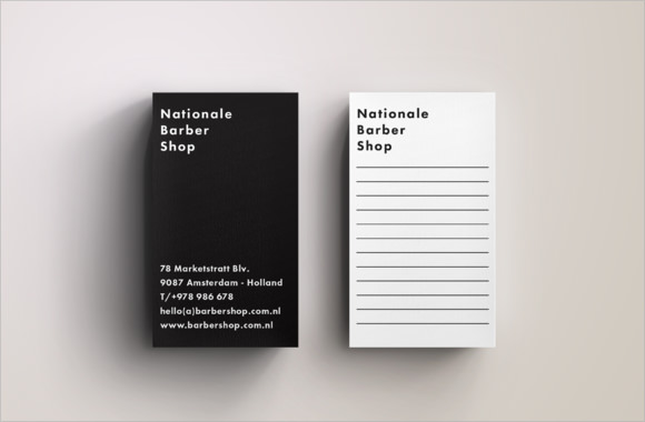 modern blank business card design template