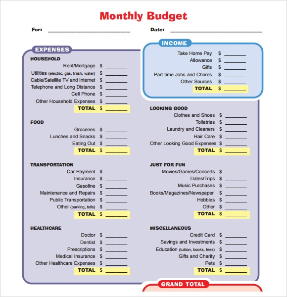 budget proposal template 7 free download for pdf word excel