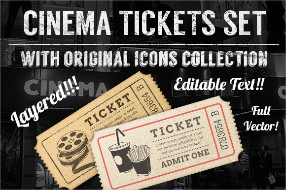 movie tickets templates