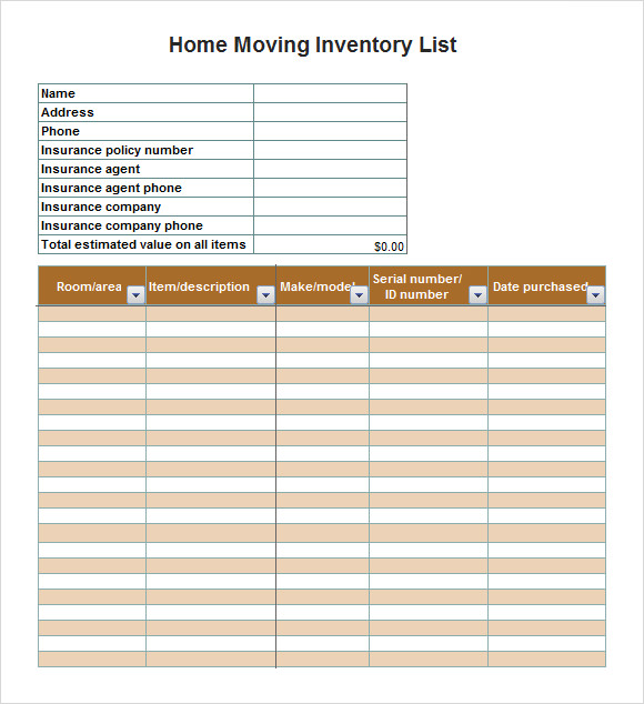 moving list template