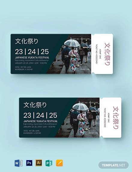 multipurpose event ticket template1