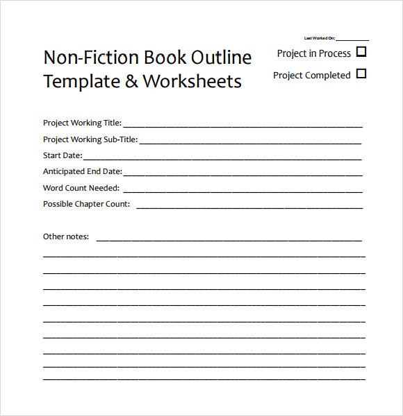 8 useful book outline templates to download sample templates for Writing a book template word