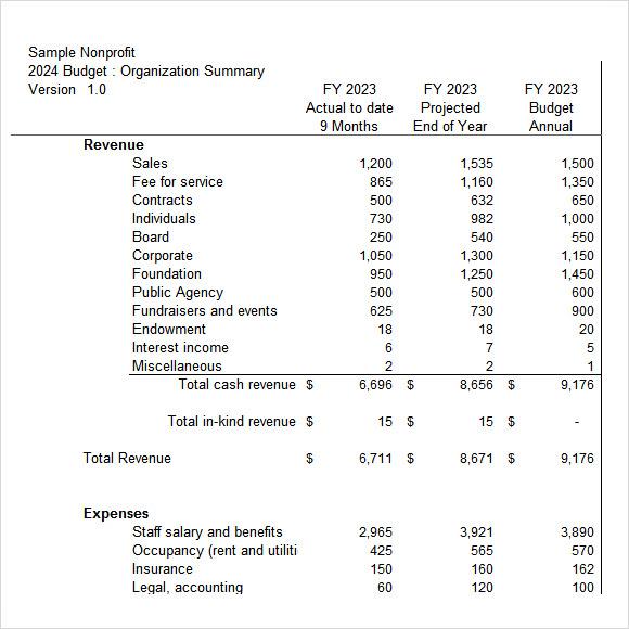 Non Profit Budget Worksheet Abitlikethis