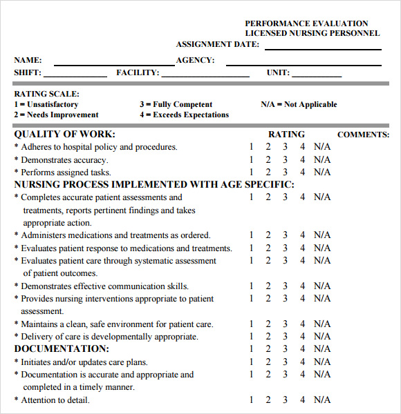 Sample Nursing Assessment   Documents In Pdf Word