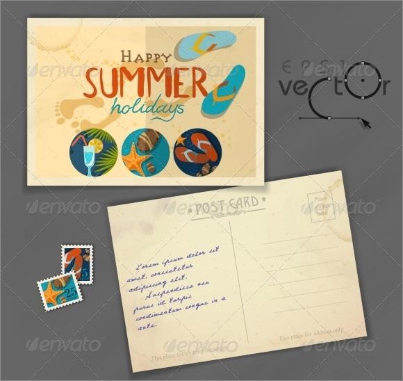 postcard design templates .