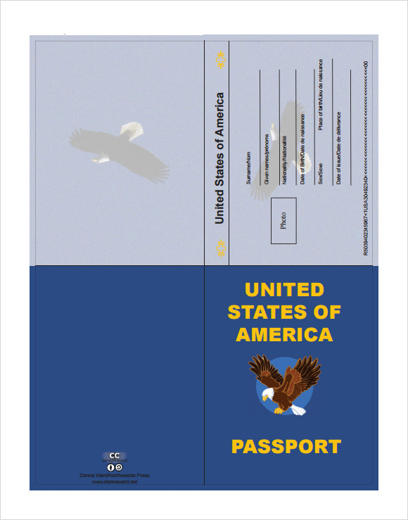 Passport Template Sample  Free Passport Template For Kids