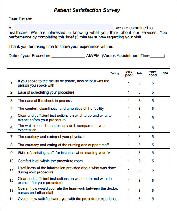 11 sample patient satisfaction survey templates to download sample patient satisfaction survey reimbursement maxwellsz