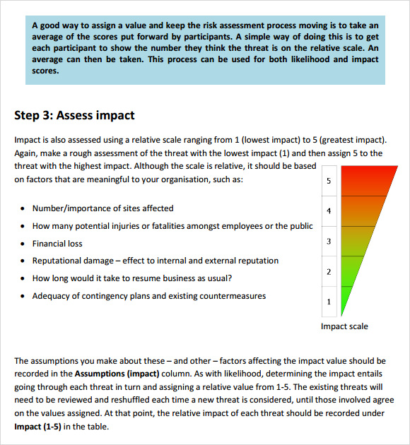 security risk assessment  u2013 7  free samples   examples   format