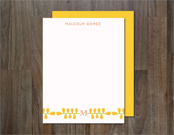 personal stationery template