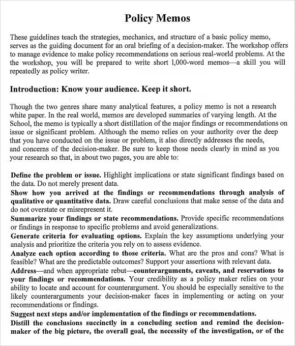 policy memo template - criasite.tk