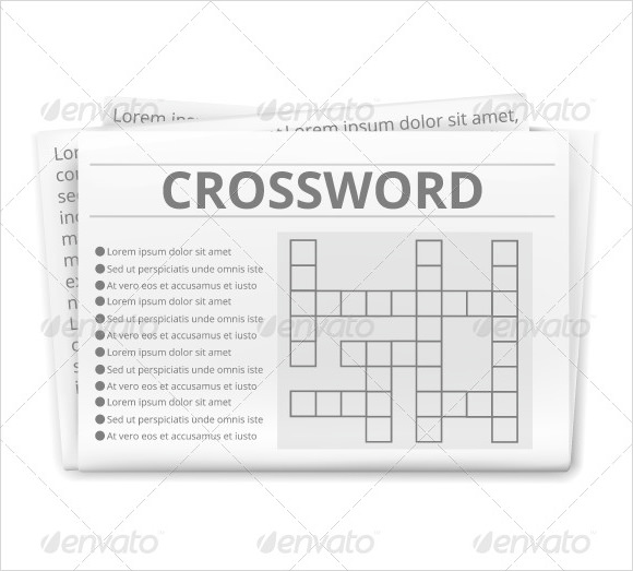 free 9  blank crossword templates in pdf