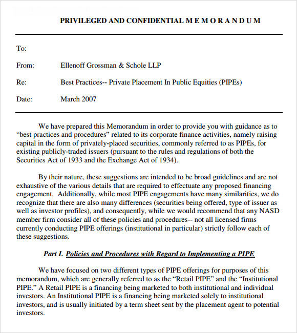 Sample Confidential Memo - 7+ Documents In Pdf, Word